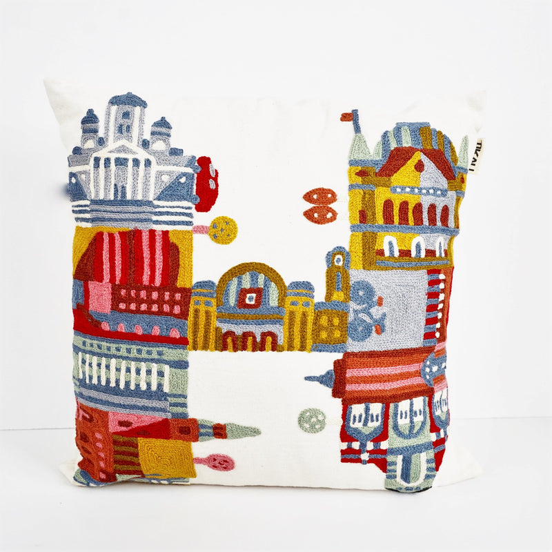 H IS FOR HELSINKI CUSHION COVER by Tikau