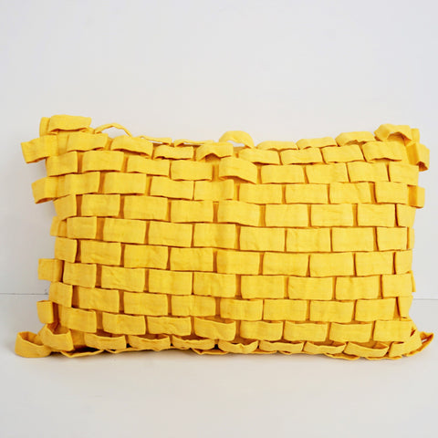 HOOK CUSHION by Tikau (yellow)