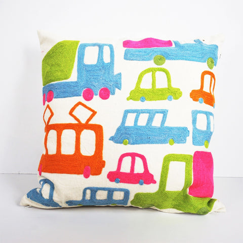 BRUM BRUM CUSHION COVER By Tikau (Multicoloured)