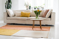 PASTEL BLOCK CARPET PRE-ORDER by Tikau (Yellow, Peach and White, 160x200cm)