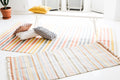 MULTICOLOR STRIPES CARPET by Tikau (Grey,White & Blue, 80x180cm) Coming in Autum 2017