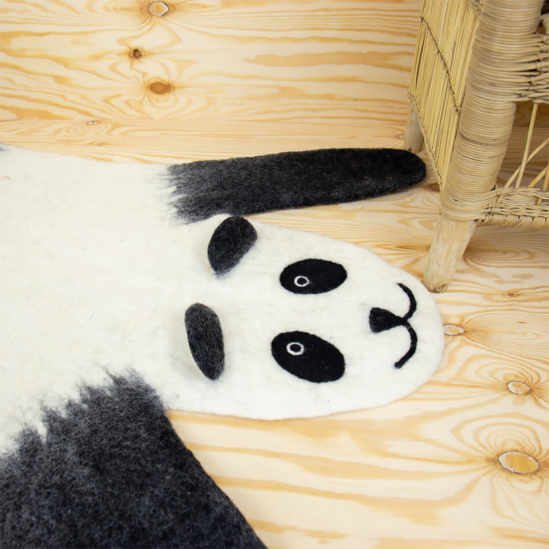 FELTED PANDA RUG by Afroart