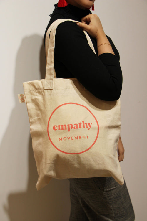 Empathy Movement TOTE BAG S with orange print