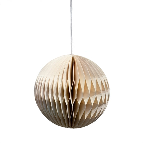 HONEYCOMB GLOBE Christmas pendant by Afroart (white)