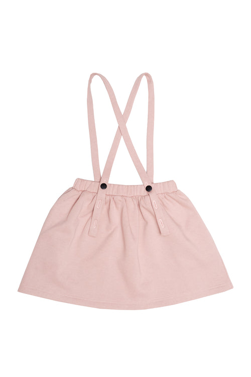 SUSPENDER SKIRT (Pink) by Wooly Organics
