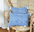 BLUE ZIGZAG CUSHION COVER (Small) BY Tikau