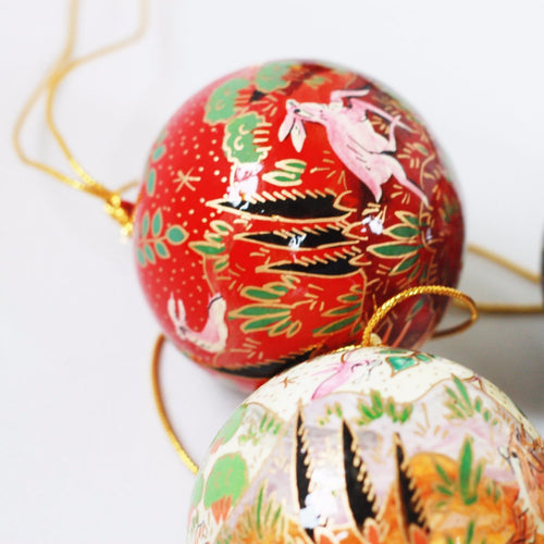 Christmas ornament bauble (Deer, Red)