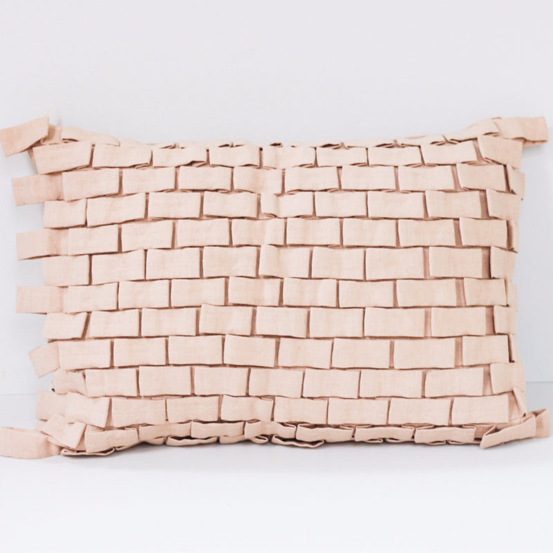 HOOK CUSHION COVER by Tikau (LIGHT PINK)