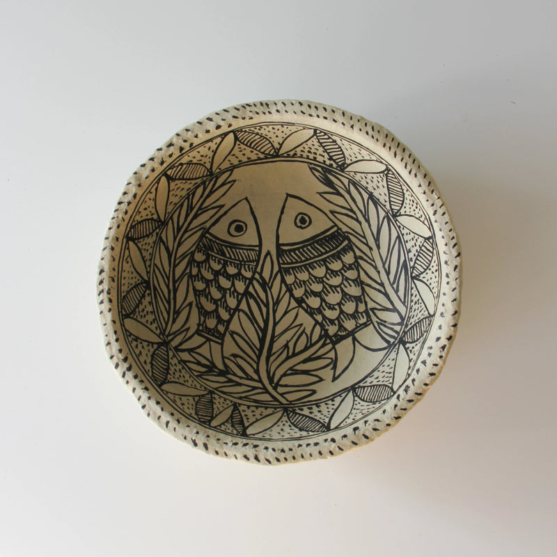 NEW! PRE-ORDER UNIQUE ART DECORATION BOWL FISHES by Tikau