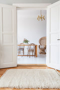 PLAIN PILE RUG by Tikau (Natural white)