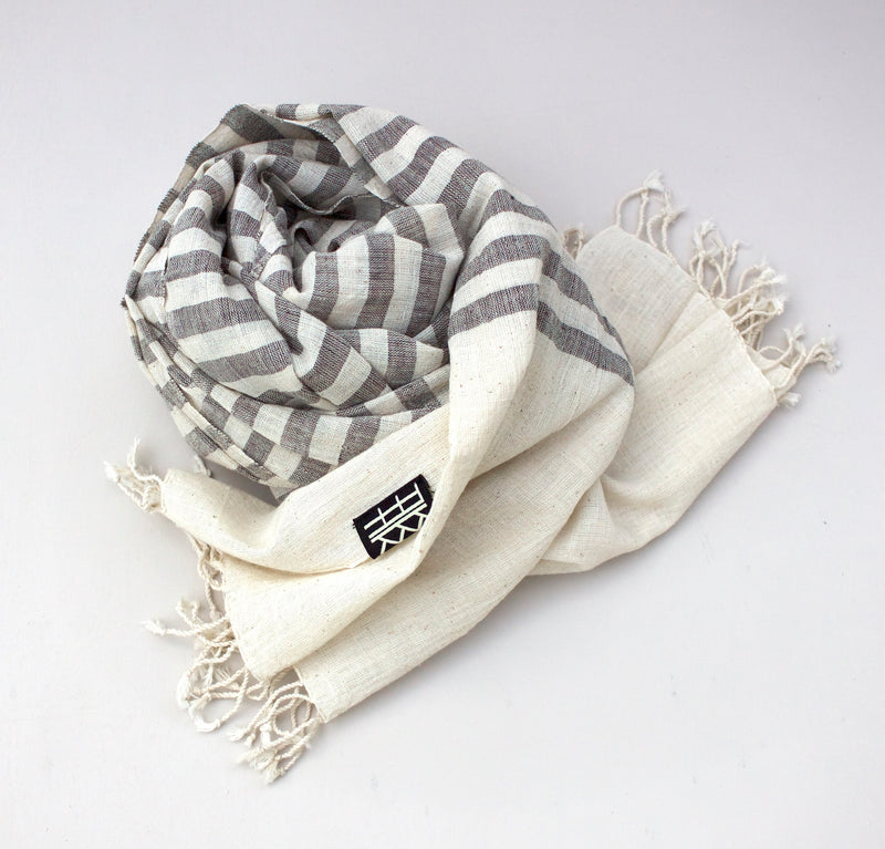 SCARF STRIPE ORGANIC COTTON by Tikau (60x190 cm)