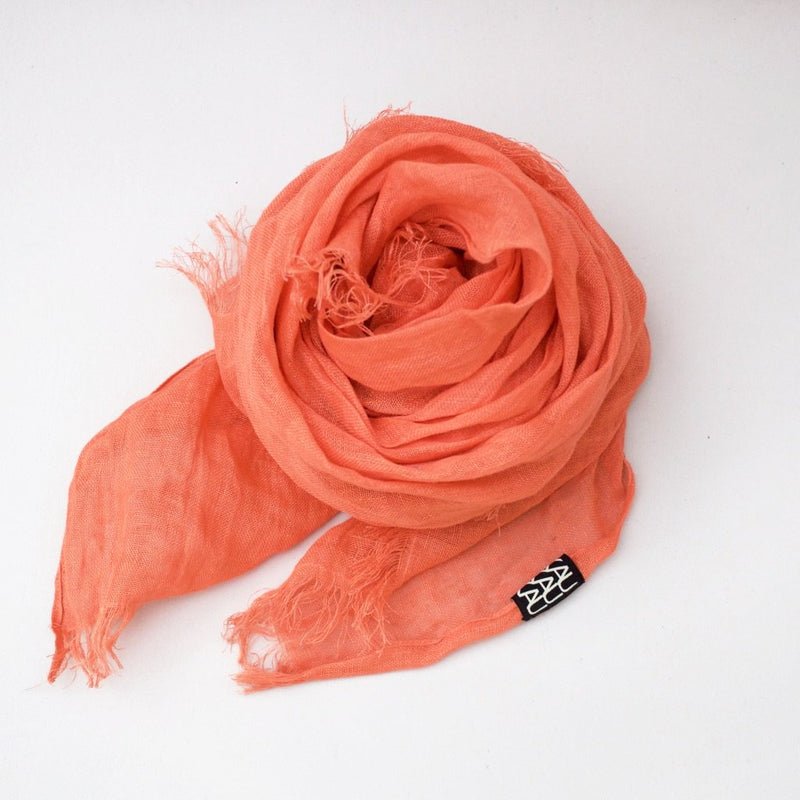 LINEN SHAWL by Tikau (100X200 cm, Orange)