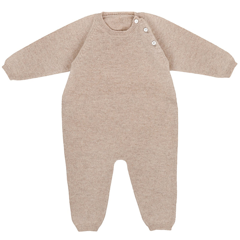CASHMERE ONE-PIECE by Ketiketa (3-18 months, SAND)