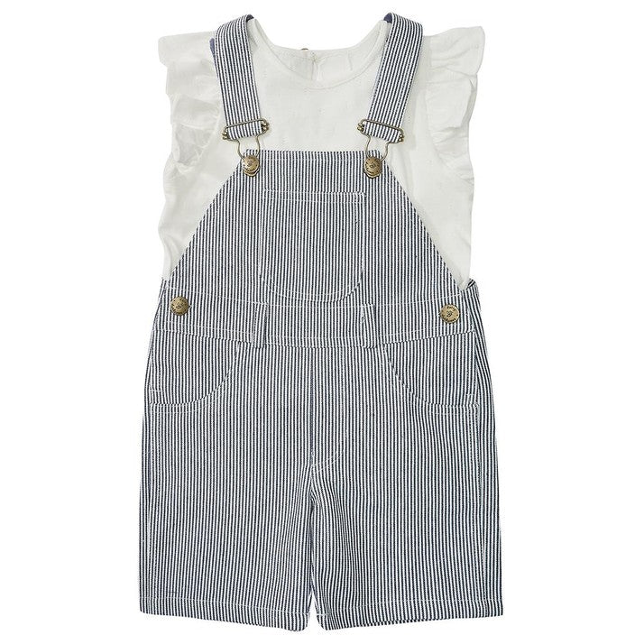 d6f08ddab ... SHORTS, Cotton Denim by Dotty Dungarees (1-5 years, Blue/white