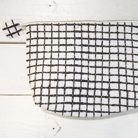 POUCH by TIKAU (Small, black/white check)