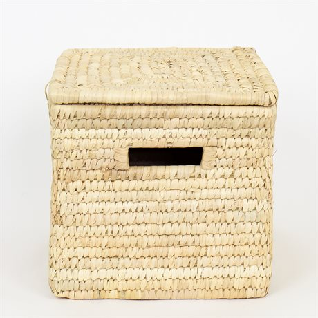 PALM COFFER BASKET S W LID by Afroart