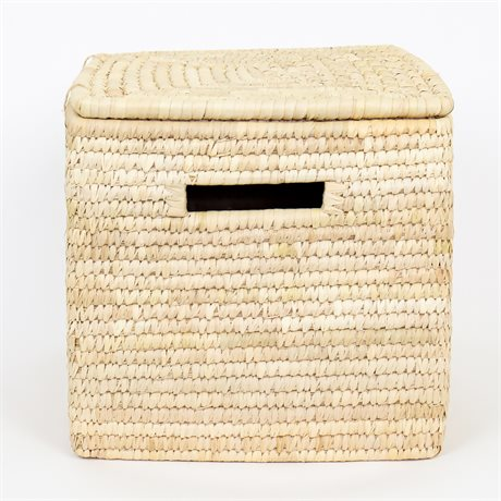 PALM COFFER BASKET L W LID by Afroart