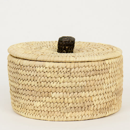 PALM UNIT BASKET M W LID by Afroart