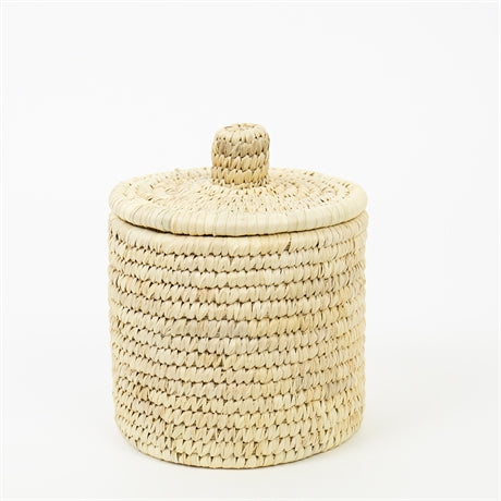 PALM UNIT BASKET S W LID by Afroart