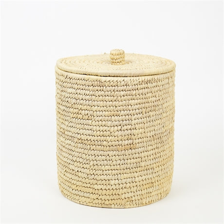 PALM UNIT WASTE BASKET W LID by Afroart