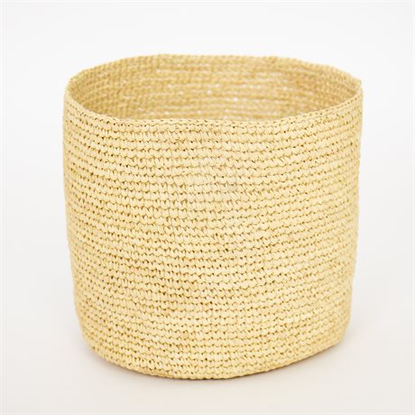 RAFFIA BASKET NATURAL M by Afroart