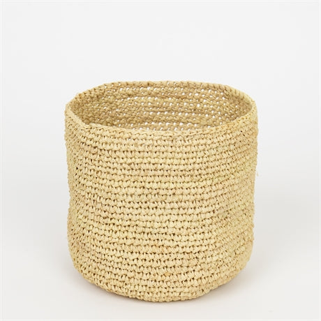 RAFFIA BASKET NATURAL S by Afroart