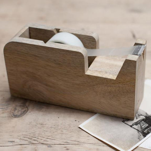 HANSA WOODEN TAPE DISPENSER by Nkuku