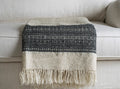 DESERT WOOL BLANKET by Tikau (natural white and black)