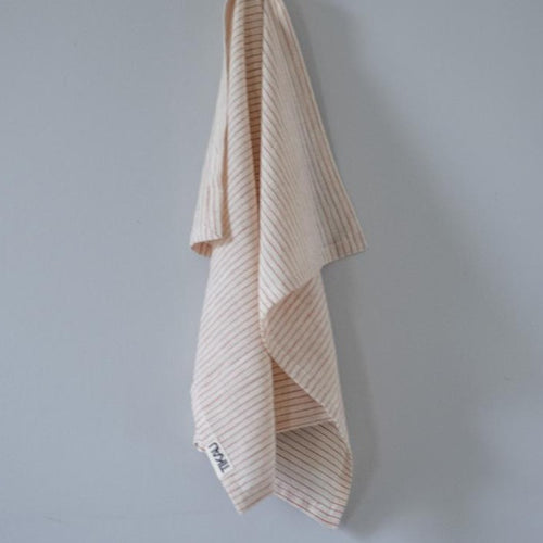 KITCHEN TOWEL ORGANIC COTTON by Tikau (Thin red stripes)