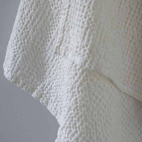 BIG TOWEL LINEN/COTTON WHITE (90x160 cm)  by Tikau Merikatu, NEW