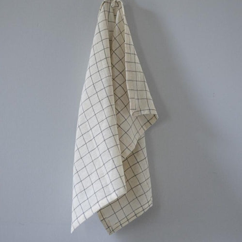 KITCHEN TOWEL ORGANIC COTTON by Tikau (Black check)
