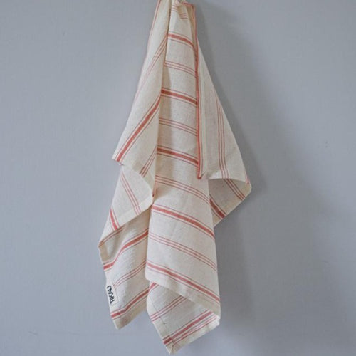 KITCHEN TOWEL ORGANIC COTTON by Tikau (Red stripes)