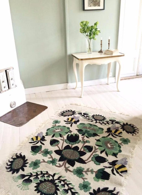 BOMBROO CARPET by Tikau (Green, 125x180 cm)