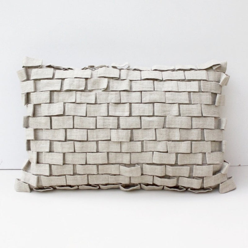HOOK CUSHION COVER by Tikau (35x50cm, Natural Beige)