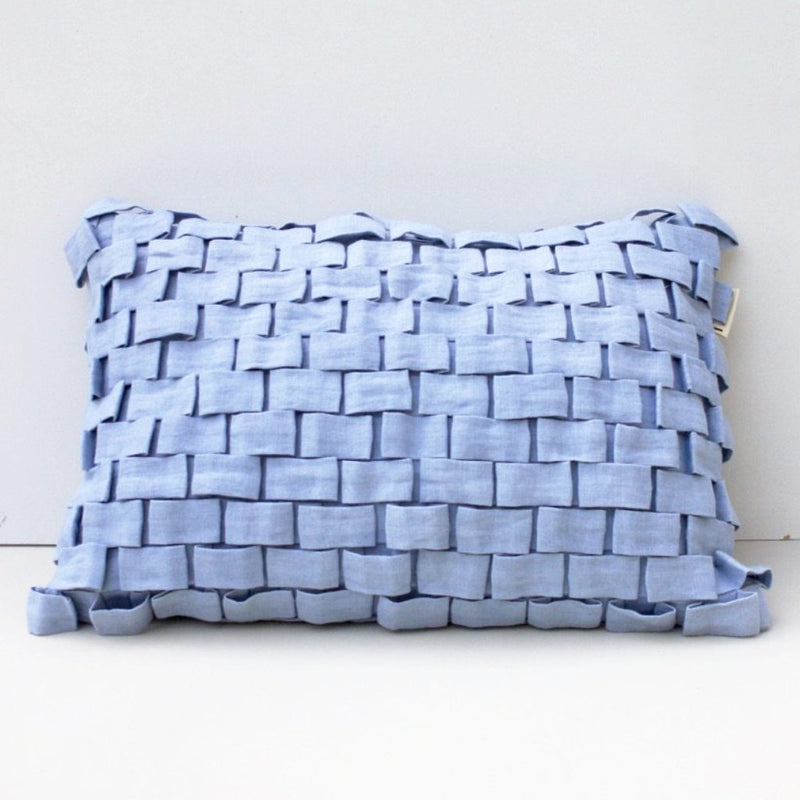 HOOK CUSHION COVER by Tikau (35x50cm, Light Blue)