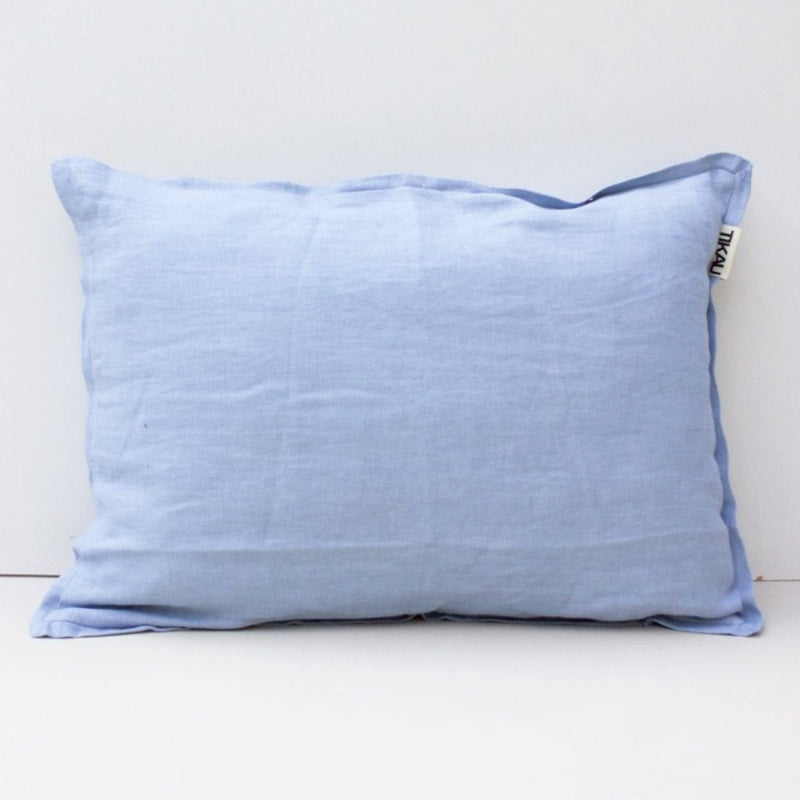 LINEN CUSHION COVER 35x50cm (Light Blue) by Tikau