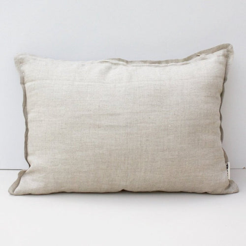 LINEN CUSHION COVER 35x50cm (Natural beige) by Tikau