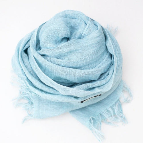 LINEN SHAWL by Tikau (100x200 cm, Light bluegreen)