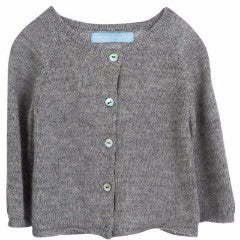 BABY CARDIGAN by Serendipity Organics (3-18 months, light grey)
