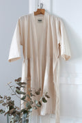 BATH ROBE NATURAL COTTON by Tikau (White)