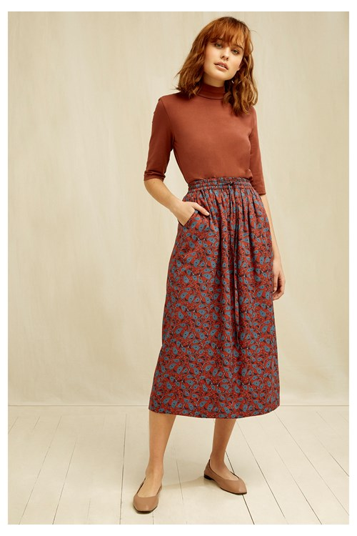 PEOPLE TREE Dana Paisley Skirt
