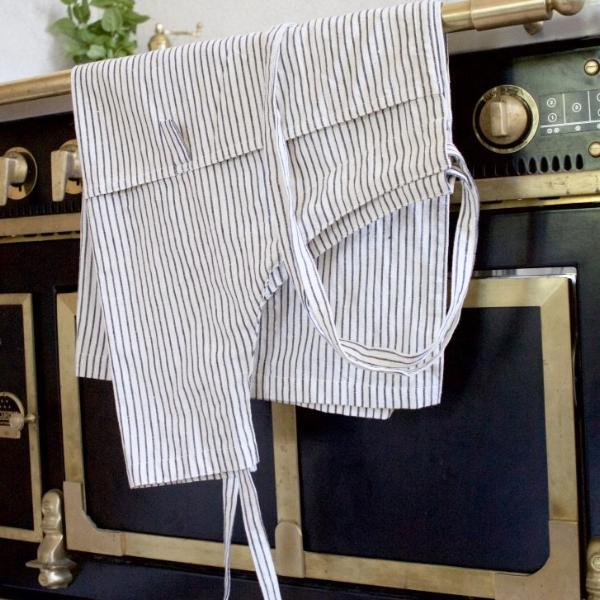 STRIPE APRON ORGANIC COTTON by Tikau