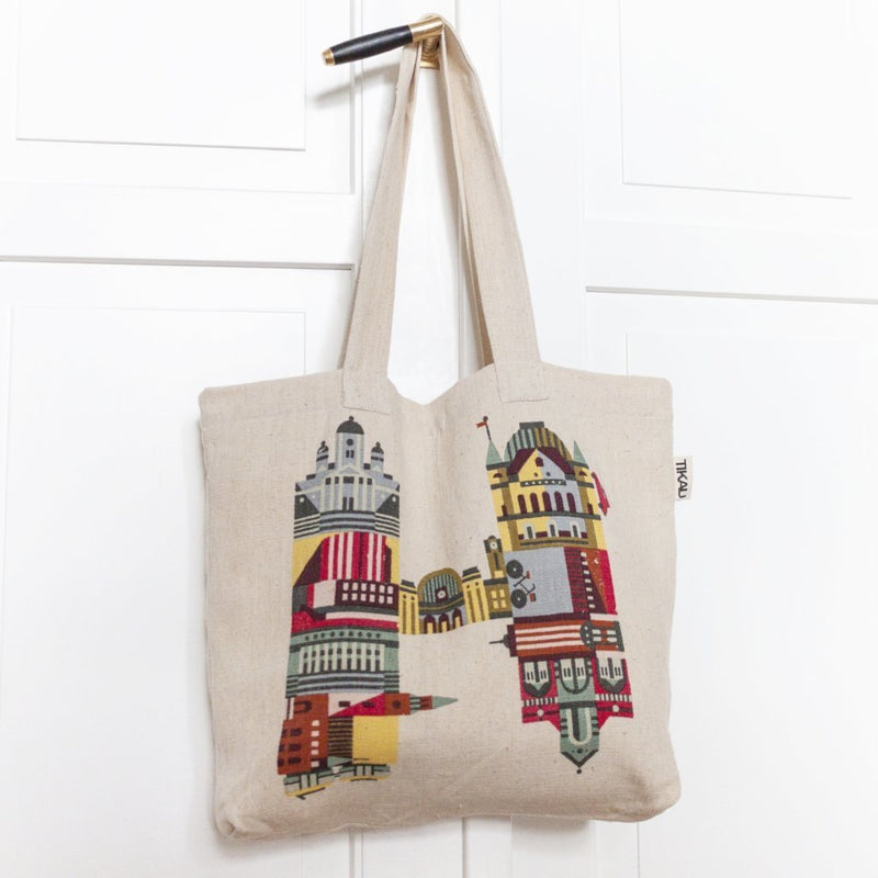 H IS FOR HELSINKI TOTE BAG by Tikau