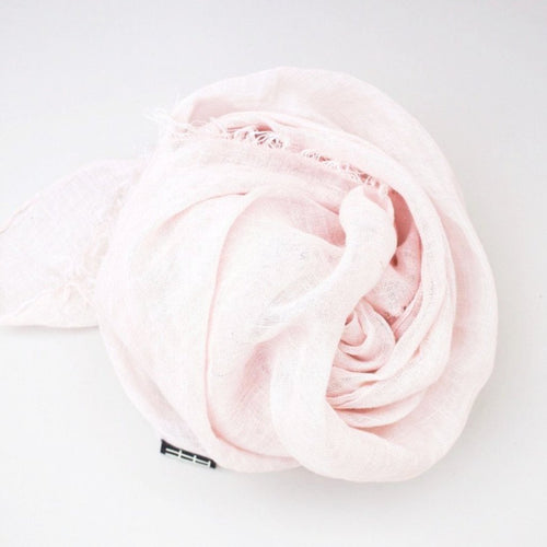 LINEN SHAWL by Tikau (100x200 cm, light rose)