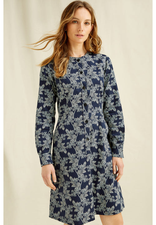 PEOPLE TREE Kadisha Fennel Print Dress