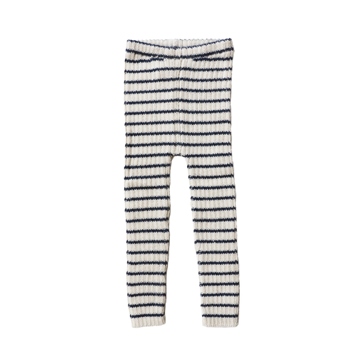 RIB LEGGINS STRIPE  by Esencia (1-6 year, Ivory/Navy)