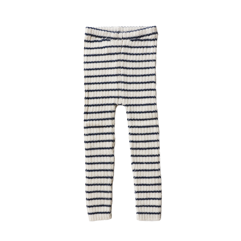 RIB LEGGINS by Esencia (1-6 year, Navy/White)