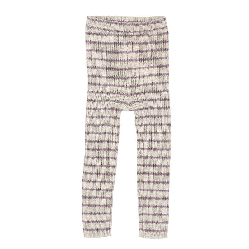 RIB LEGGINS STRIPE by Esencia (1-6 year, Rosa/White)