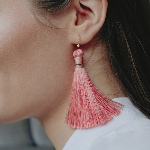 TASSEL EARRINGS by AIDA impact (Coral)
