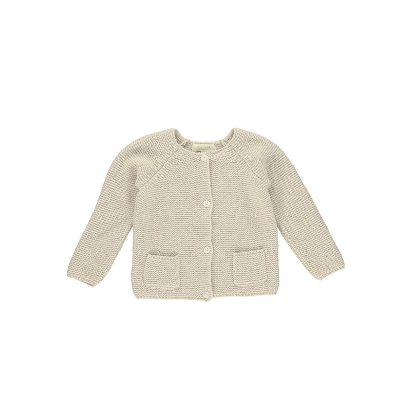 MINI CARTER CARDIGAN by Olivierbaby (Mushroom)